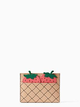 picnic perfect strawberry card holder, multi, medium