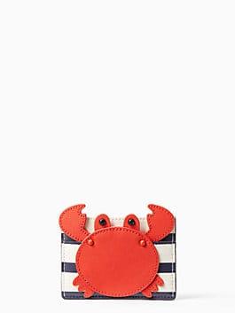 shore thing crab applique card holder, multi, medium