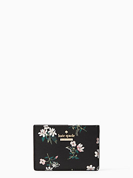 cameron street flora card holder, black multi, medium