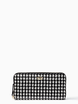 cameron street houndstooth lacey, black/cream, medium