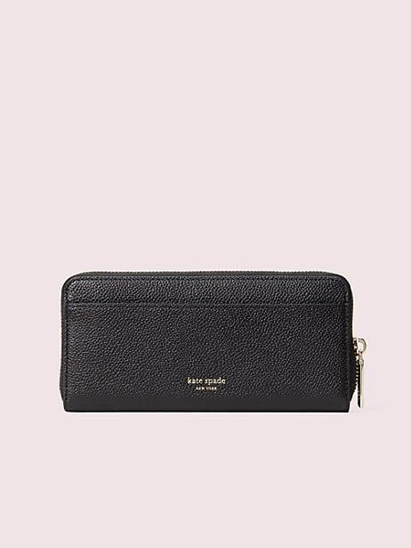 Margaux enamel spade slim continental wallet | Kate Spade New York