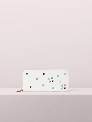 margaux enamel spade slim continental wallet by kate spade new york non-hover view