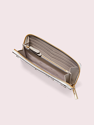margaux enamel spade slim continental wallet by kate spade new york hover view