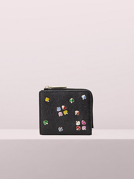 margaux enamel spade small bifold wallet by kate spade new york