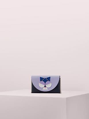 케이트 스페이드 크로스바디 백 Kate Spade spademals smitten kitten chain wallet crossbody,blazer blue