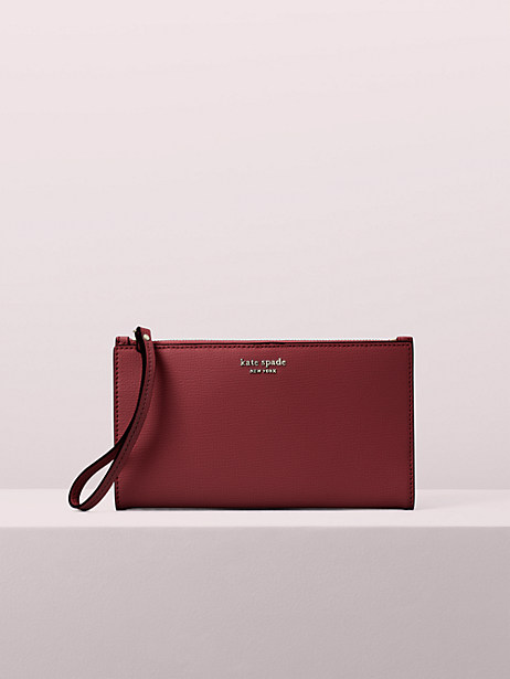 sylvia large continental wristlet, cherrywood, large by kate spade new york