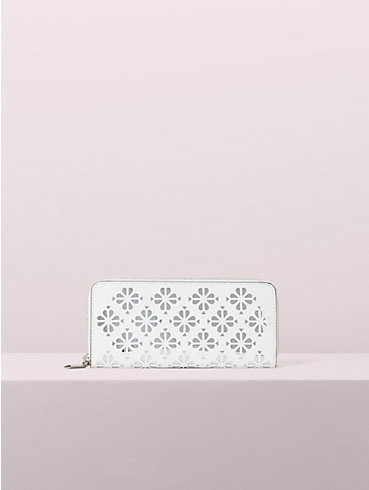 sylvia perforated slim continental wallet, , rr_productgrid