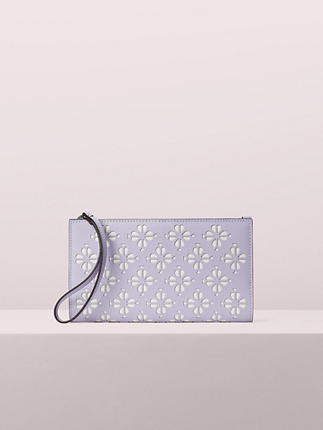 sylvia large continental wristlet, frozen lilac, large by kate spade new york