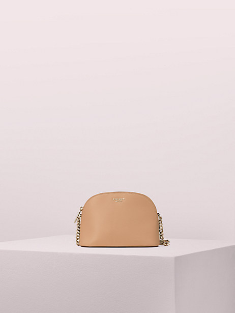 sylvia small dome crossbody, light fawn, large by kate spade new york