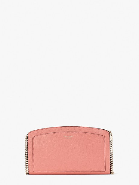 margaux east west crossbody, peachy, large by kate spade new york