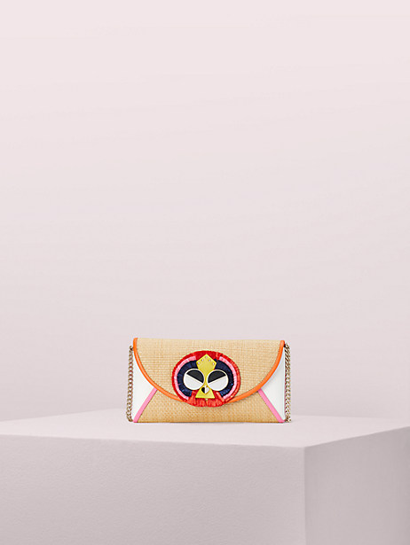 spademals raffia preeny peacock chain clutch by kate spade new york