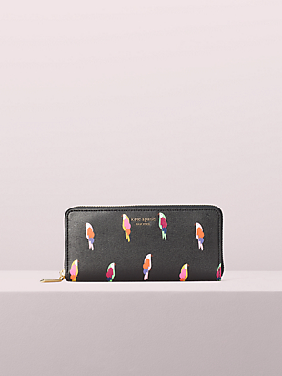sylvia flock party slim continental wallet by kate spade new york non-hover view