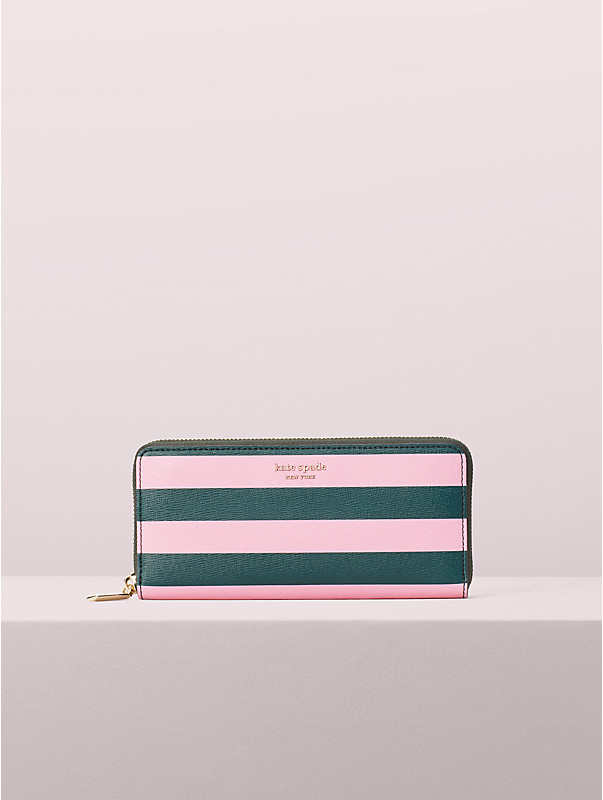 Sylvia schmale Brieftasche im Streifen, , rr_large