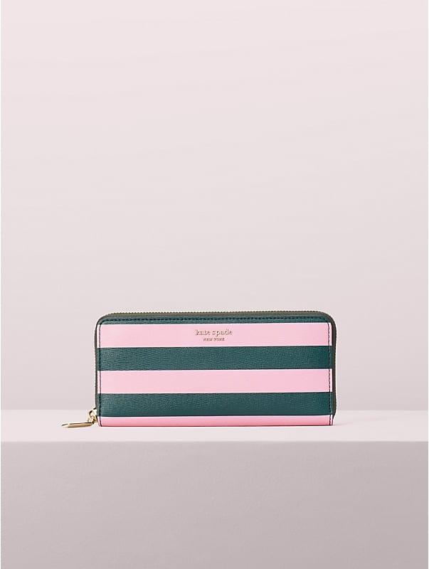 sylvia stripe slim continental wallet, , rr_large