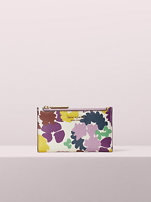 sylvia swing flora small slim bifold wallet by kate spade new york non-hover view