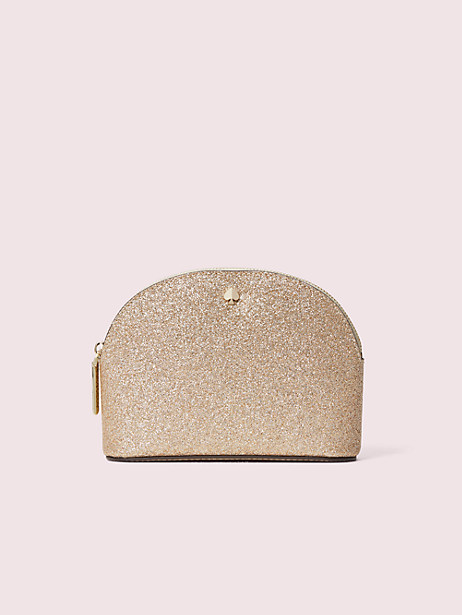 burgess court small dome cosmetic case, pale gold, large by kate spade new york