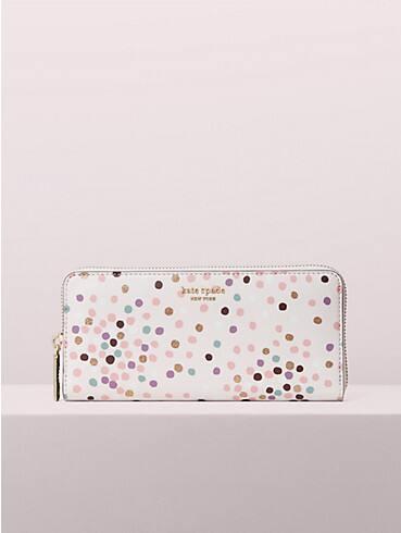 sylvia disco dots slim continental wallet, , rr_productgrid