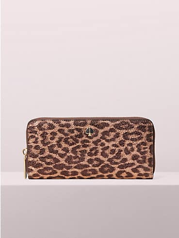 metallic leopard slim continental wallet, , rr_productgrid