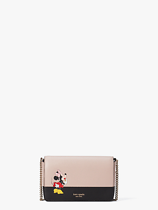 kate spade new york x minnie mouse chain wallet by kate spade new york non-hover view