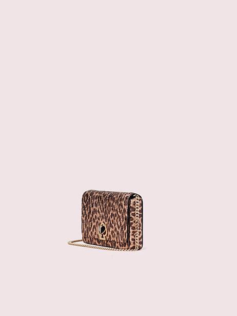 Nicola metallic leopard twistlock chain wallet | Kate Spade New York
