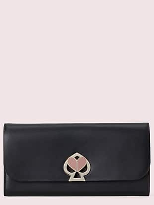 nicola twistlock flap continental wallet by kate spade new york non-hover view