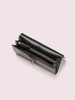 nicola twistlock flap continental wallet by kate spade new york hover view