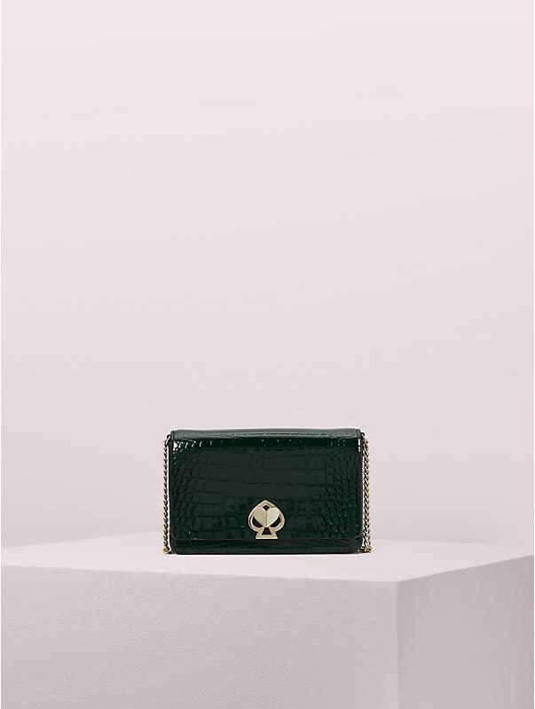 romy croc-embossed chain wallet, , rr_large
