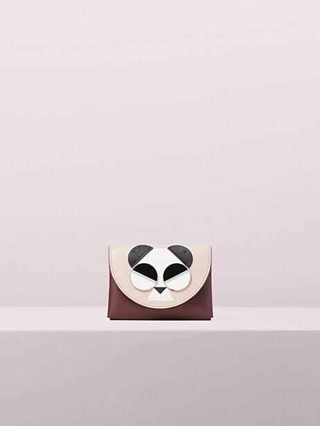 spademals gentle panda cardholder by kate spade new york