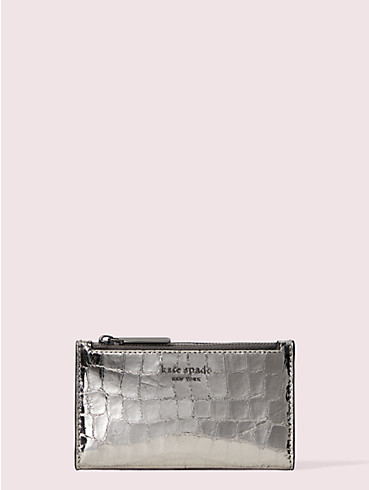 sylvia croc-embossed small slim bifold wallet, , rr_productgrid
