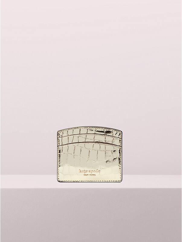sylvia croc-embossed cardholder, , rr_large