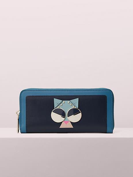 spademals smitten kitten slim continental wallet by kate spade new york