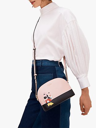 kate spade new york x minnie mouse small dome crossbody by kate spade new york hover view