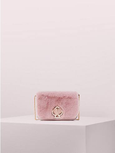 nicola faux fur twistlock chain wallet, , rr_productgrid