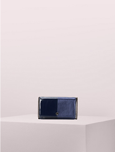 nicola bicolor metallic chain wallet, , rr_productgrid