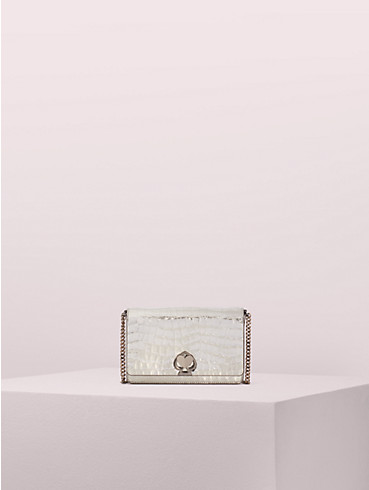 romy metallic croc-embossed chain wallet, , rr_productgrid