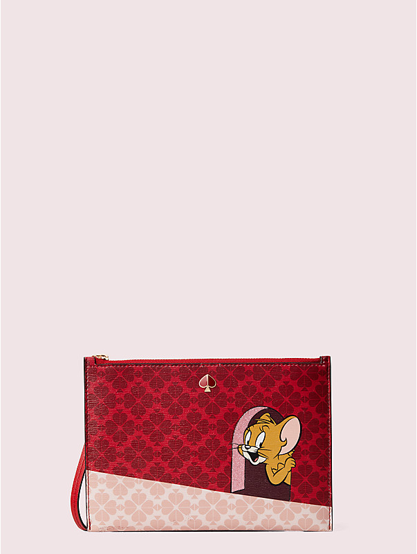 kate spade new york x tom & jerry small wristlet, , rr_large