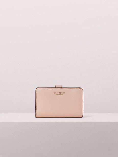 spencer compact wallet, rosy cheeks, large by kate spade new york