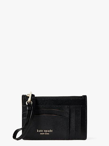 spencer cardholder wristlet, black, large by kate spade new york