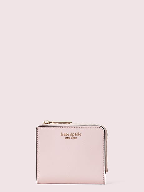 spencer small bifold wallet, tutu pink, large by kate spade new york