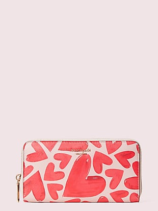spencer ever fallen zip-around continental wallet by kate spade new york non-hover view