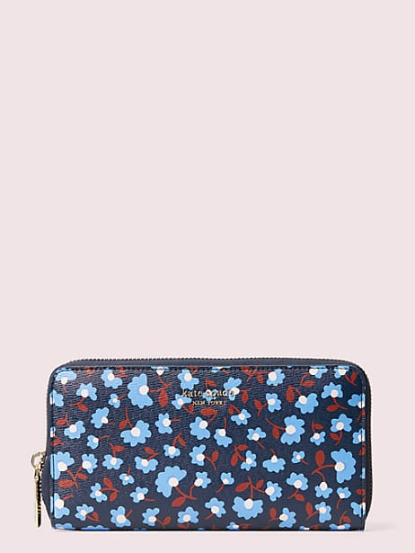 spencer party floral zip-around continental wallet by kate spade new york