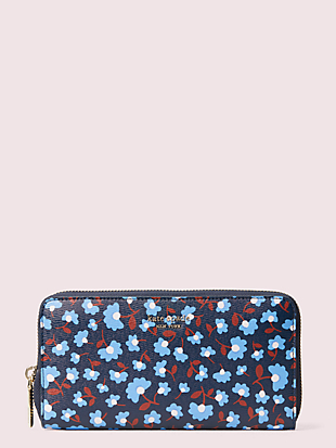 spencer party floral zip-around continental wallet by kate spade new york non-hover view
