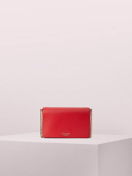 spencer chain wallet, hot chili, large by kate spade new york