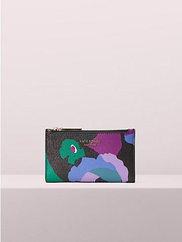 Kleine, schmale Spencer Faltbrieftasche mit Blumen-Collage, , rr_productgrid