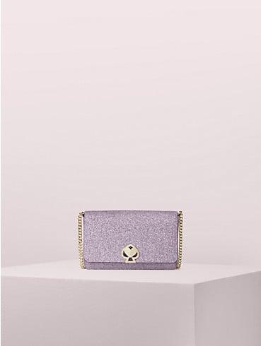 Schimmernde Nicola Brieftasche mit Kettenriemen und Drehverschluss, , rr_productgrid