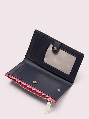 spencer small slim bifold wallet by kate spade new york hover view