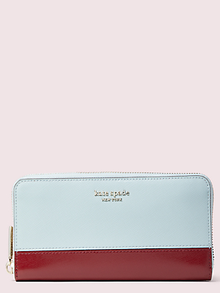 spencer zip-around continental wallet by kate spade new york non-hover view