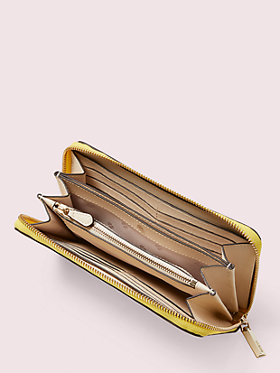 spencer zip-around continental wallet by kate spade new york hover view