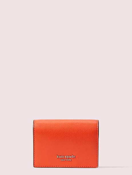 spencer mini keyring wallet, tamarillo, large by kate spade new york