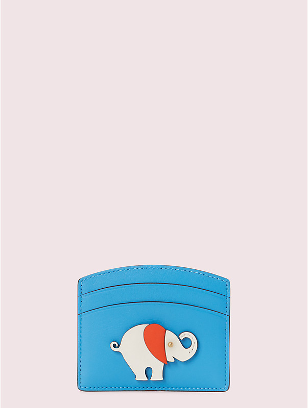 appliqué tiny elephant cardholder, , rr_large
